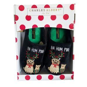 Charles Albert Shoes - Charles Albert Ba Hum Pug Ladies Slippers